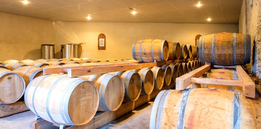 Les Vignobles Alain Roses - Château Grand Tayac Margaux - Château Hau Bellevue Moulis - Bordeaux - chai